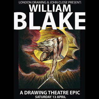 Poster for London Drawing's William Blake event, which I worked within.  April 2019.
