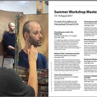 Hampstead School of Art course guide (I appear in the photograph, being painted within a portrait masterclass at HSOA).