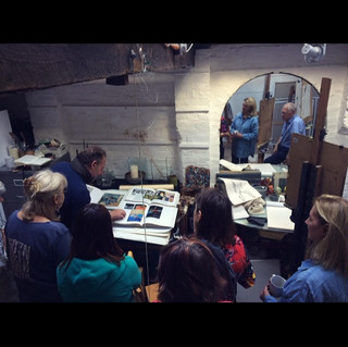 Jason Bowyer (NEAC) teaching at his studio at the London Museum of Water and Steam, 2018