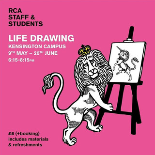 RCA Life Drawing Society (new society created by art historians Lucy Gallwey and Sarah Mercer in 2019).  I will be one of the first models to work within the society.
