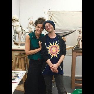 With Cathie Pilkington (RA) in her studio | August 2019