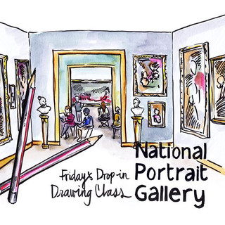 National Portrait Gallery:  'Friday drop-in class' focussing on anatomical drawing, led by Robin Lee-Hall (former President of the Royal Society of Portrait Painters), that I Life Modelled within.