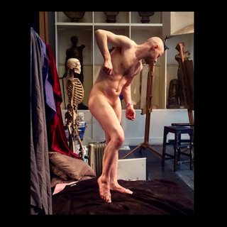 'Standing pose with raised foot' | RA | 2017