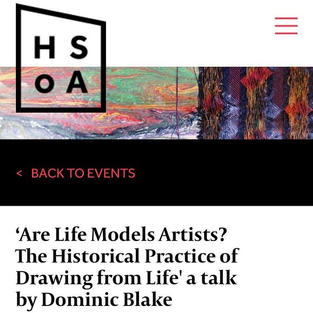 The historical practice of drawing from life   Lecture, HSoA, 2019