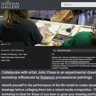 National Gallery:  'Uncover Life Drawing', February 2019.