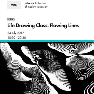 Estorick Collection of Modern Italian Art Life Drawing Class:  'Flowing Lines', 24.07.17.  An exciting life drawing event that I worked within, inspired by the Futurism movement.