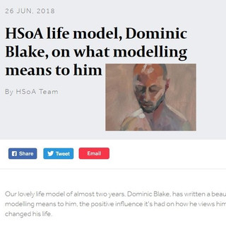 Hampstead School of Art published my article:  'What Life Modelling means to me', in 2018.  The full article appears within my website in the 'Blog' section.