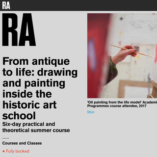 RA Life Drawing course:  'From antique to life:  drawing and painting inside the historic art school'.  A life drawing course that I worked within at the Royal Academy, curated by Mary Ealden.