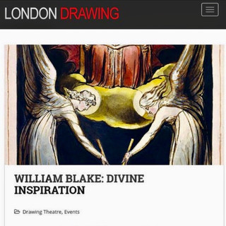 London Drawing   'William Blake:  Divine Inspiration'   The Crypt Gallery, 13.04.19.
