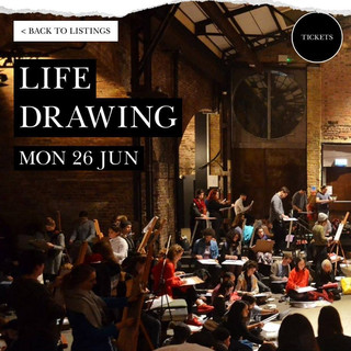 Freeform Life Drawing, multi-model event, led by figurative artist Dan Whiteson, that I was honoured to be asked to work within.