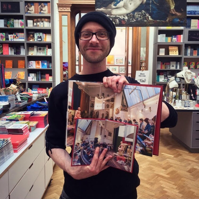 In the RA's Shop, June 2019, having just been presented with the two RA publications I feature in:  'From Life' (2017) and ''A Little History of the Royal Academy', 2019. Celebrating the RA's 250th year, and the people who have made it such a special place, I feel honoured to have been included within the book.