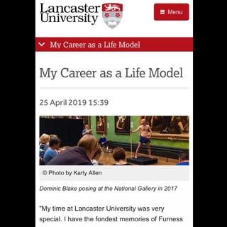 Lancaster University Alumni Magazine, interview, April 2019.