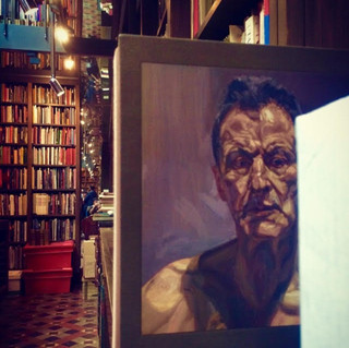 Martin Gayford's two volume publication of Lucien Freud's work, in the RA Library, 2018