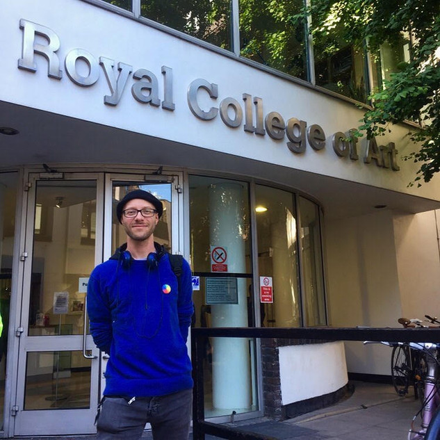Outside the Royal College of Art, 2019.  I will be delivering my lecture 'Are Life Models Artists' at the RCA in 2020.