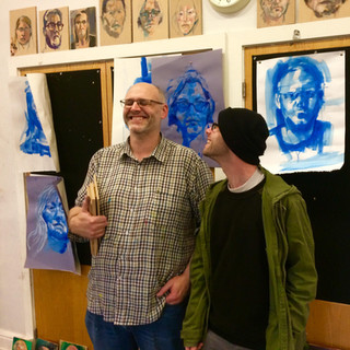 With Alastair Adams, Past President of the Royal Society of Portrait Painters at the National Portrait Gallery | 2018