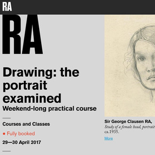 RA 'Drawing: the portrait examined'.