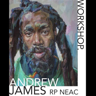 Portrait painting workshop that I am modelling within, led by figurative artist and member of the Royal Society of Portrait Painters / New English Art Club, Andrew James.