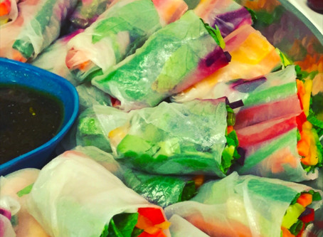 The Simple Lunchbox: Chicken & Mango Rice Paper Rolls