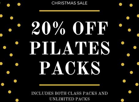Christmas Sale - 20% off Pilates packs