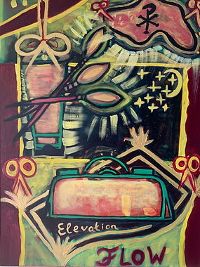 FLOW, 50x70, Acrylic on canvas