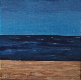 Nice Ocean, 40x40, Acrylic on canvas