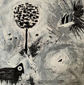 The black sheep, 30x30, mixed media