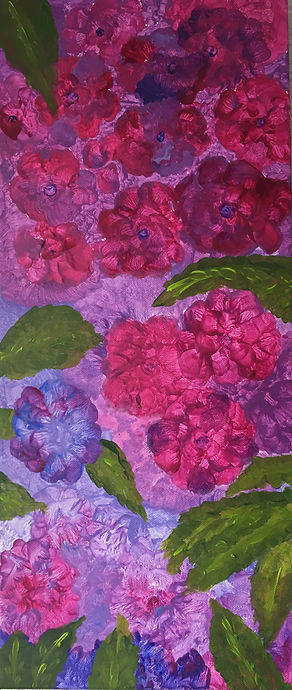 Hydrangeas%2C30x70%2C%20Acrylic%20on%20c