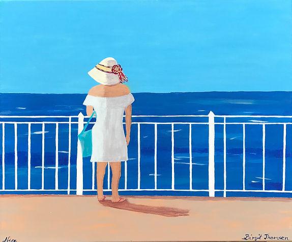 Lili in Nice, 50x60, Acrylic on canvas