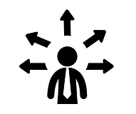 Businessman with multiple options Icons