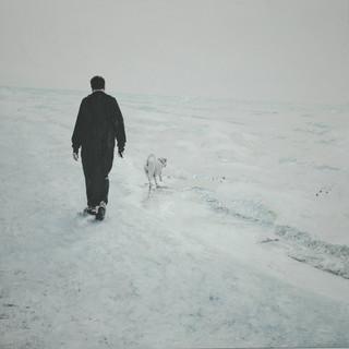 עם הכלב בים.JPG