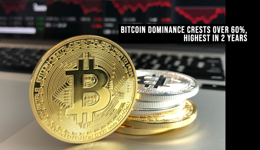 Bitcoin Dominance Crests Over 60%, Highest in 2 Years