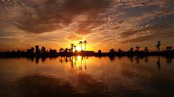 Desert sunset morocco
