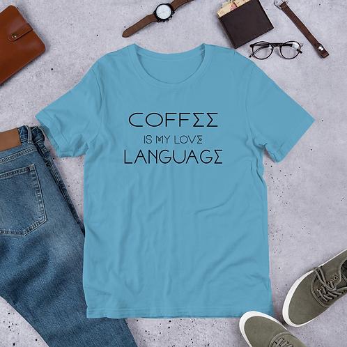 Coffee Language w/ Goat Back - Unisex Tee