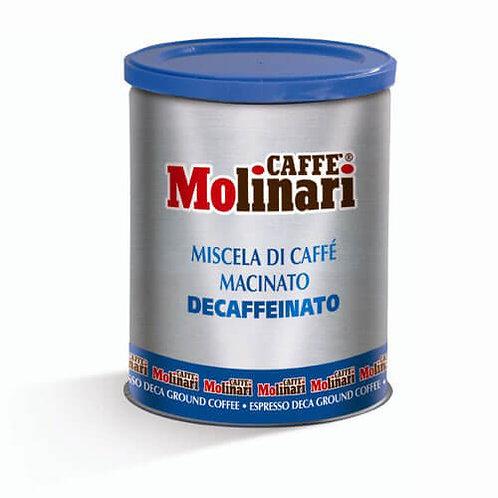 Molinari Decaffeinated Ground (Tin)