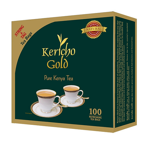 Kericho Gold 100's String, Tag & Envelope