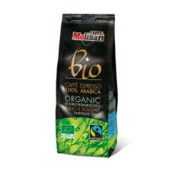 Molinari Bio 100% Arabica, Organic & Fairtrade Ground (Compostable Flow Bag)