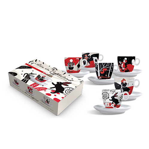 Alice in Coffeeland Cappuccino Cups