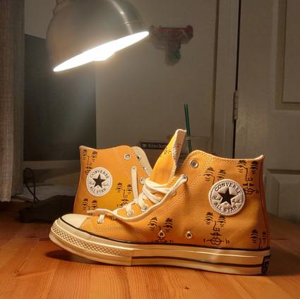 Yellow Pichu Converse