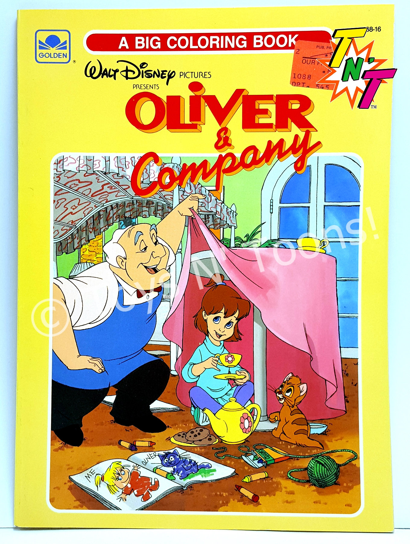 disneys oliver company big coloring and activity book by golden books 1981 24 pages to color and puzzles to play black and white art - Big Coloring Books