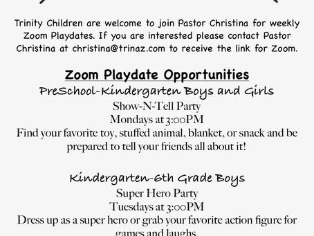 Kid's Zoom Playdates