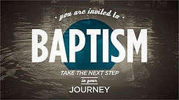 Next Baptism Celebration June 4, 2017