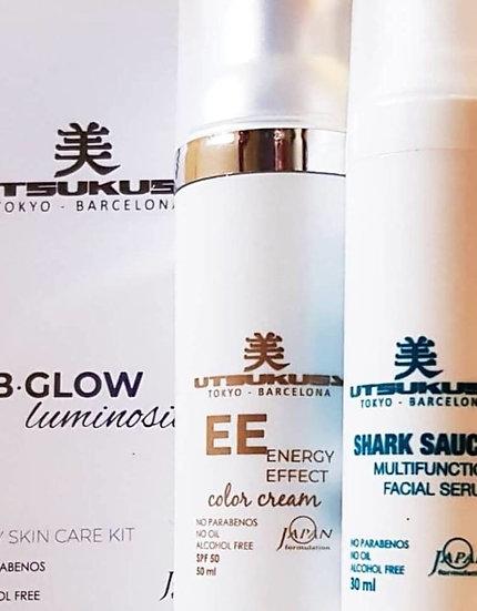 Meso BB Glow home care kit EE : Shark sauce 30 ml + color cream 50SPF 50 ml