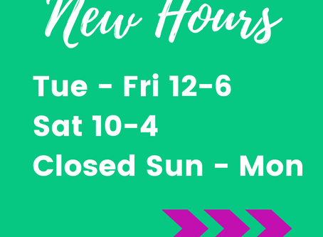 Expanded Hours!