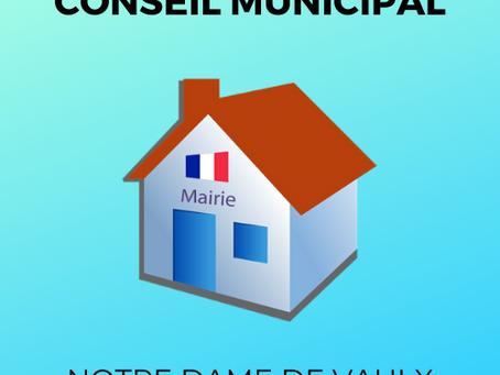 Installation du nouveau conseil municipal