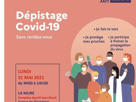 COVID 19: JOURNEE DE DEPISTAGE MASSIF A LA MURE