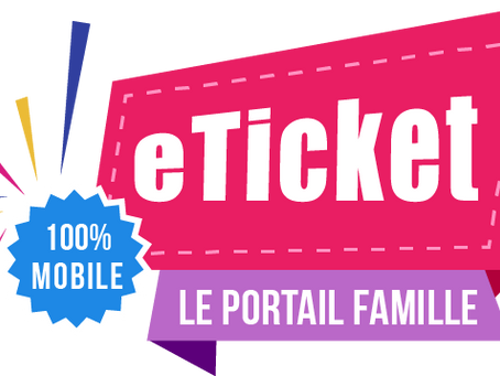 ECOLE,CANTINE, PERISCOLAIRE: APPLICATION eTICKET