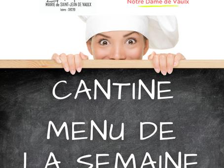 MENU CANTINE SEMAINE S51