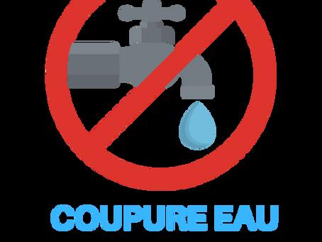 15/06 COUPURE EAU POUR TRAVAUX