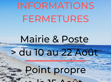 FERMETURES MAIRIE & POSTE - POINT PROPRE
