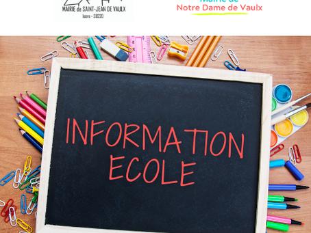 ECOLE: Fournitures scolaires pour l'école de NDV